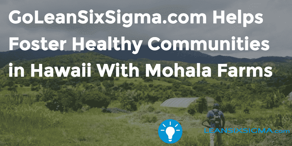 GoLeanSixSigma.com Helps Foster Healthy Communities In Hawaii With Mohala Farms – GoLeanSixSigma.com