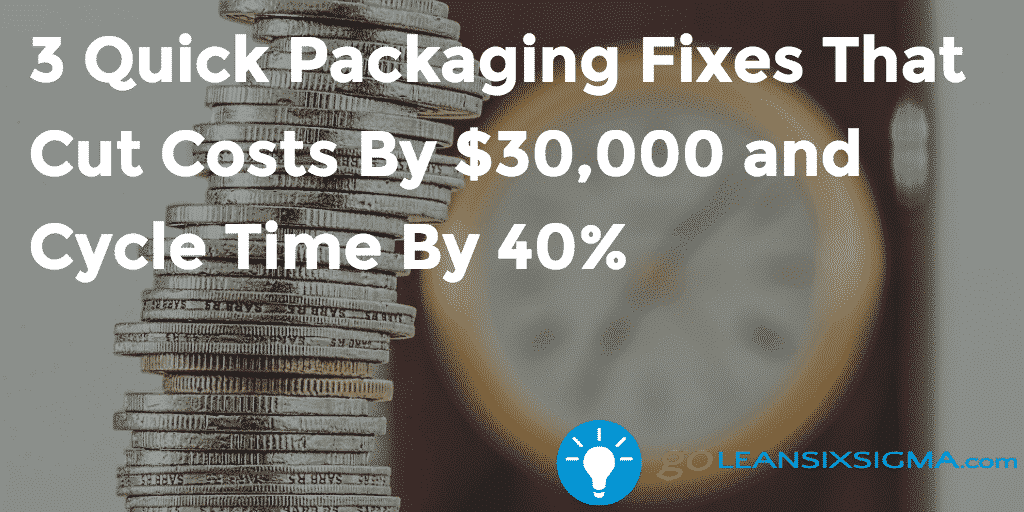 3 Quick Packaging Fixes That Cut Costs By $30,000 And Cycle Time By 40% – GoLeanSixSigma.com