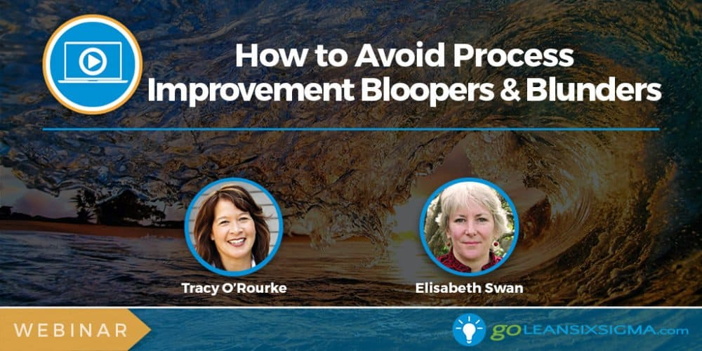 Webinar: How To Avoid Process Improvement Bloopers & Blunders (Intermediate)