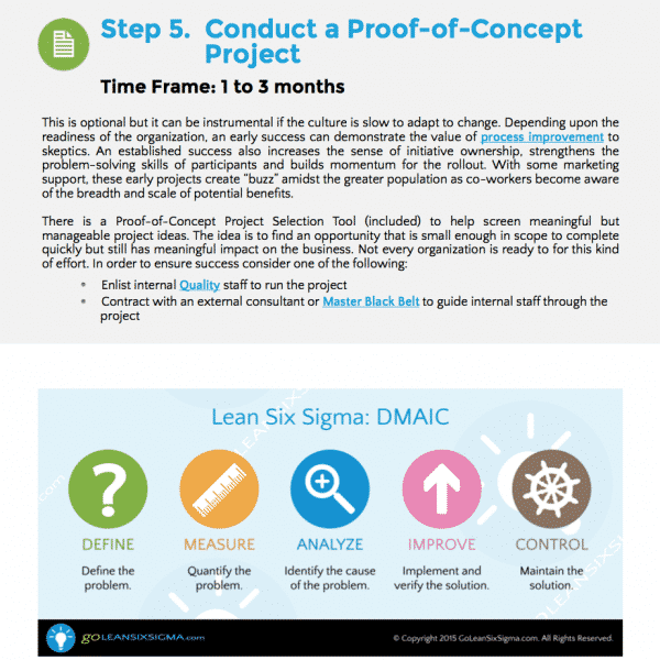 GoLeanSixSigma.com – Lean Six Sigma Training Rollout Kit – Step 5