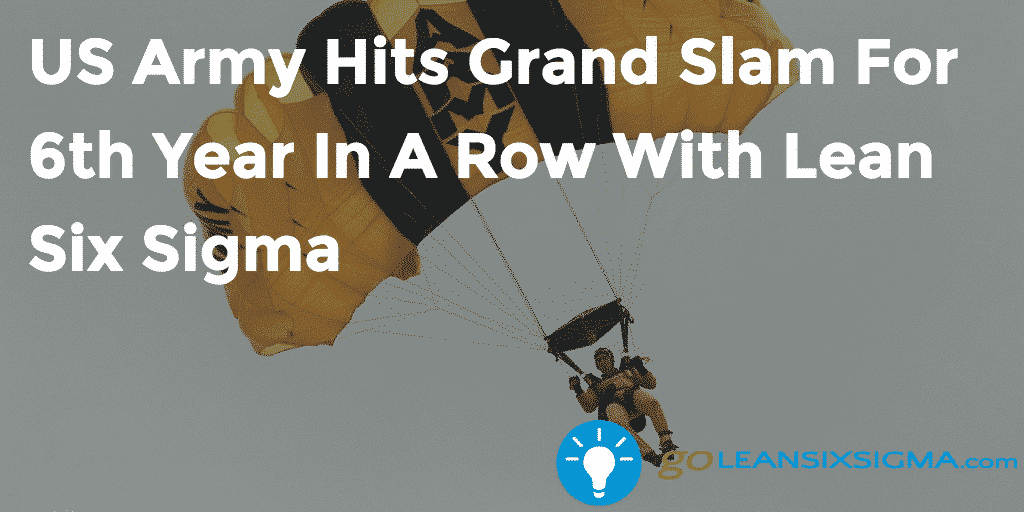 US Army Hits Grand Slam For 6th Year In A Row With Lean Six Sigma – GoLeanSixSigma.com