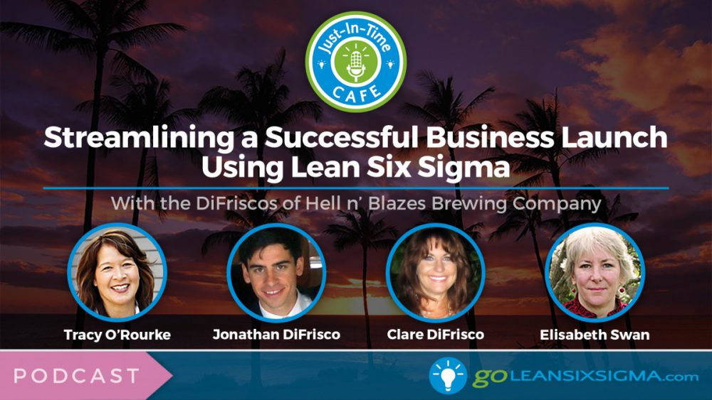Just-In-Time Cafe Podcast, Episode 8: Streamlining A Successful Business Launch Using Lean Six Sigma With The DiFriscos Of Hell N' Blazes Brewing Company