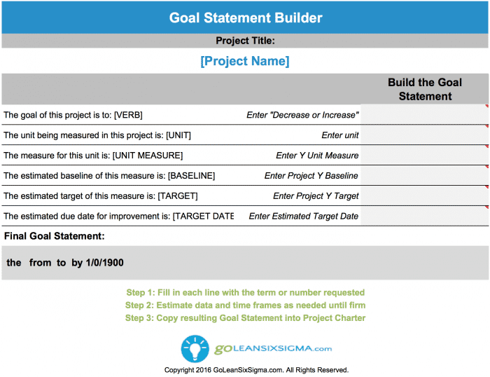 Goal Statement Builder