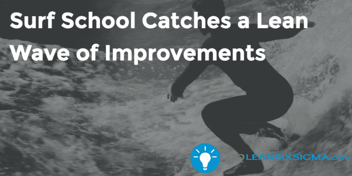 Surf School Catches A Lean Wave Of Improvements Goleansixsigma Com