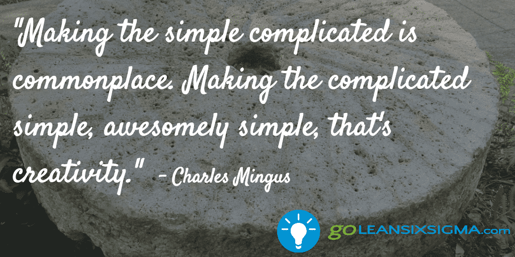 """Making The Simple Complicated Is Commonplace. Making The Complicated Simple, Awesomely Simple, That's Creativity."" – Charles  Mingus"