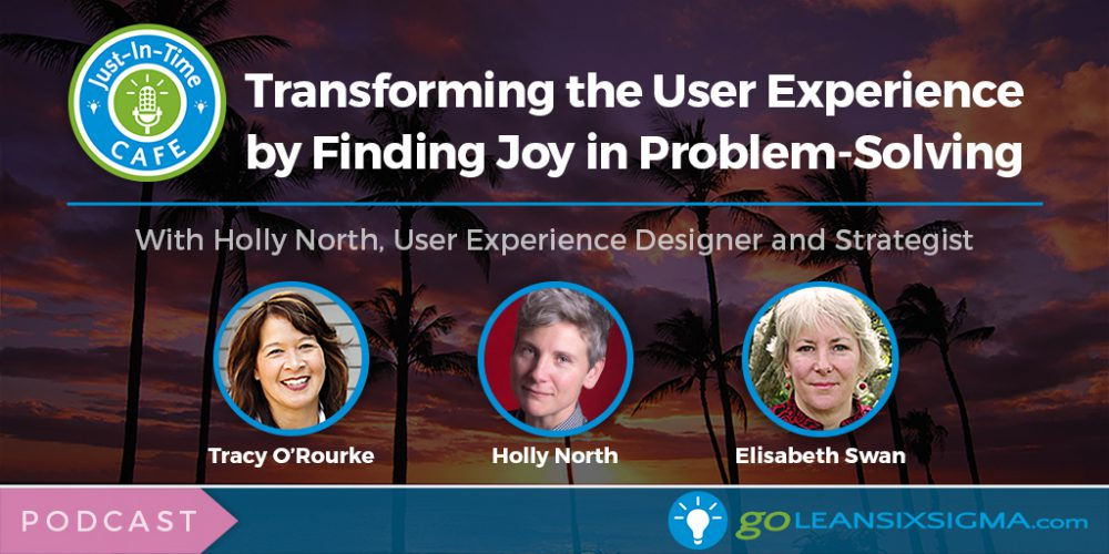 Just-In-Time Cafe Podcast, Episode 10: Transforming The User Experience By Finding Joy In Problem-Solving With Holly North - GoLeanSixSigma.com