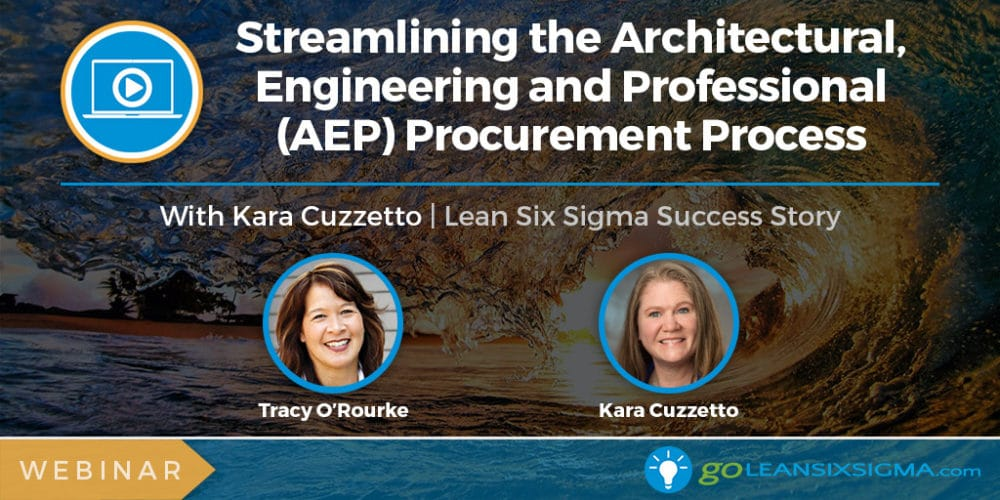 Project Presentation Webinar: Streamlining The Architectural, Engineering And Professional (AEP) Procurement Process With Kara Cuzzetto - GoLeanSixSigma.com