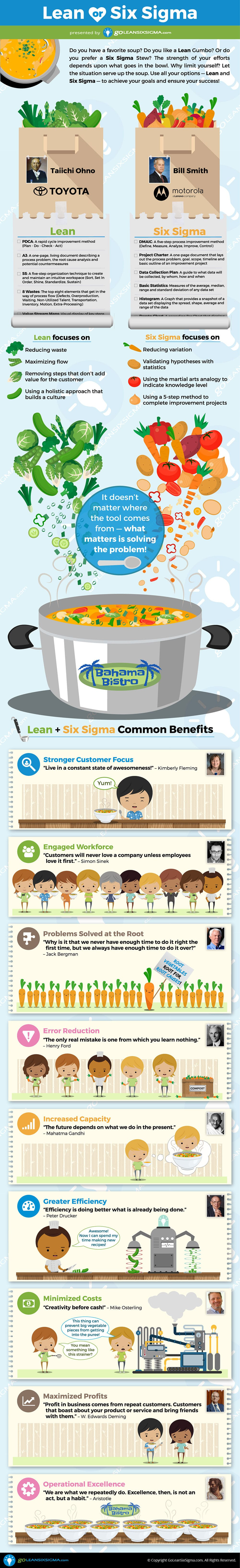 Lean or Six Sigma Infographic - GoLeanSixSigma.com