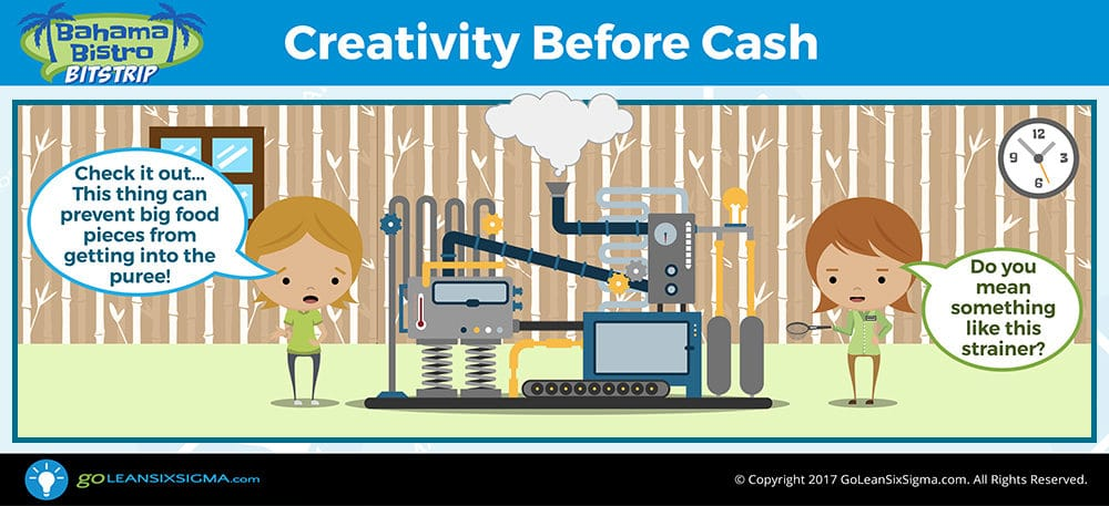 Bahama Bistro Bitstrip: Creativity Before Cash - GoLeanSixSigma.com