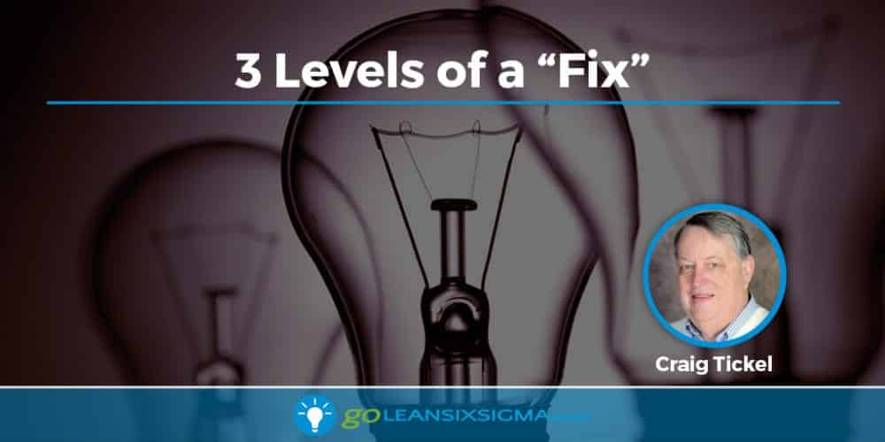 3 Levels of a Fix - GoLeanSixSigma.com