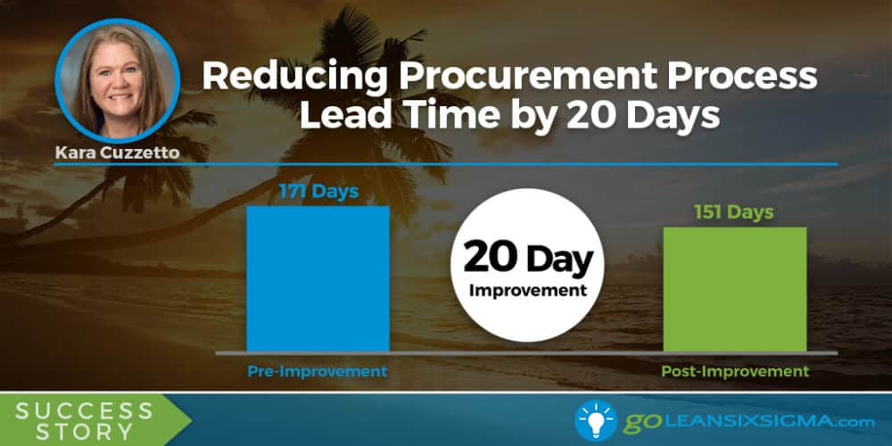 Success Story: Reducing Procurement Process Lead Time by 20 Days, Featuring Kara Cuzzetto - GoLeanSixSigma.com
