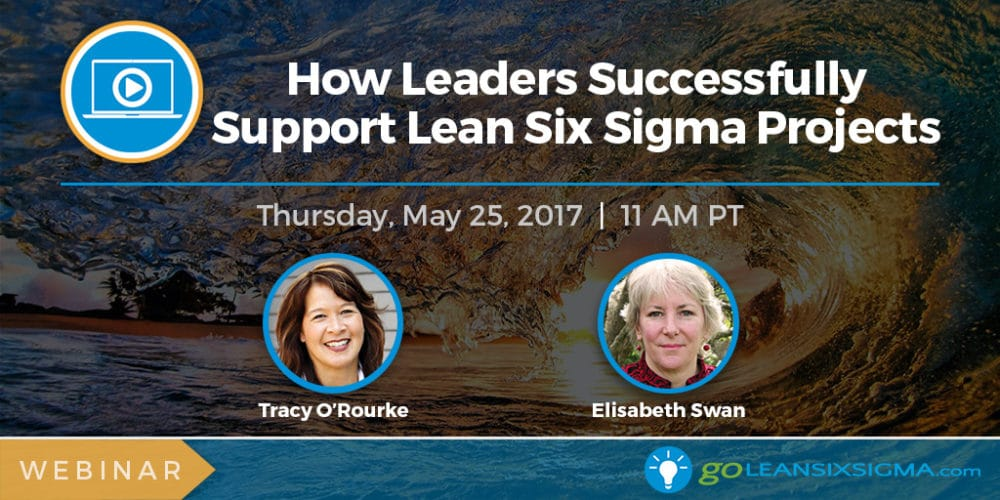 Webinar: How Leaders Successfully Support Lean Six Sigma Projects