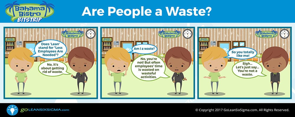Bahama Bistro Bitstrip: Are People A Waste? - GoLeanSixSigma.com