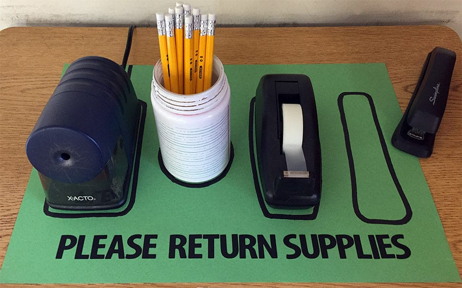 Lean Six Sigma Is Everywhere: School Supplies Shadow Board - GoLeanSixSigma.com