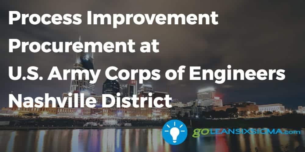 Process Improvement Procurement At U.S. Army Corps Of Engineers Nashville District - GoLeanSixSigma.com