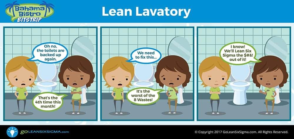Bahama Bistro Bitstrip: Lean Lavatory - GoLeanSixSigma.com