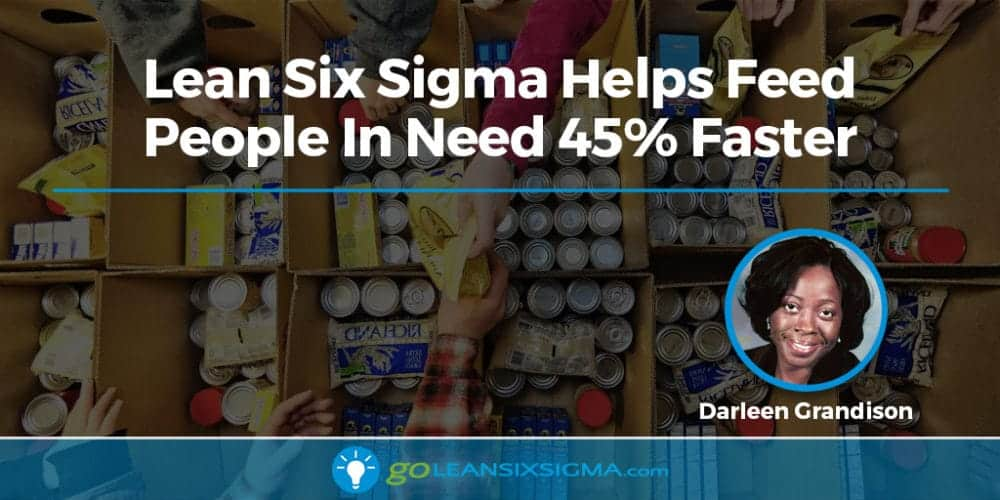 Lean Six Sigma Helps Feed People In Need 45% Faster