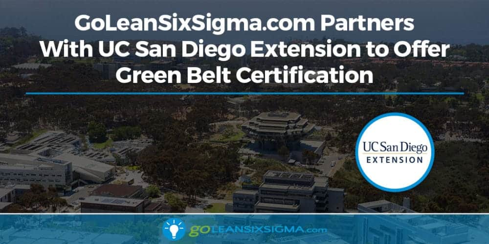 Goleansixsigma Partners With Uc San Diego Extension To Offer