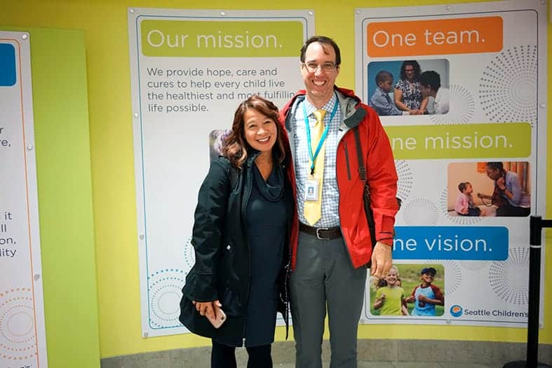 Seattle Children's Hospital Lean Tour - Jay McNally, Program Manager For Outreach And Education At Seattle Children's Hospital Hosts Tracy O'Rourke And The GoLeanSixSigma.com Team For A Tour.