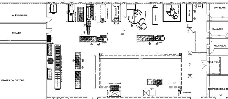 Alexander Paselk Black Belt Project Storyboard - Production Hall Floor Plan With Operators - GoLeanSixSigma.com