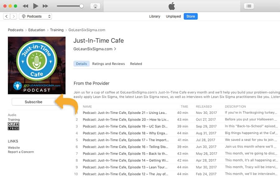 Just-in-Time Cafe - iTunes Review - GoLeanSixSigma.com