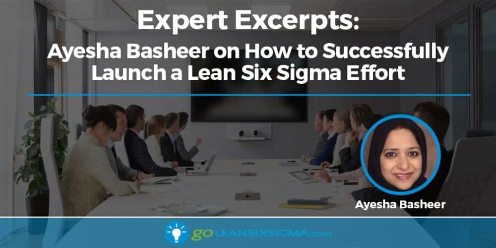 Expert Excerpts: Ayesha Basheer on How to Successfully Launch a Lean Six Sigma Effort - GoLeanSixSigma.com