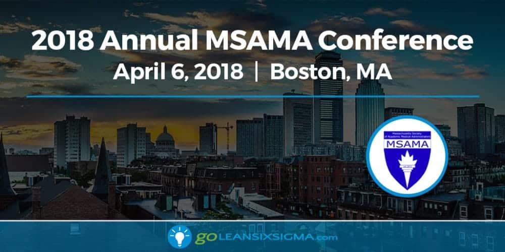 Event: 2018 Annual MSAMA Conference - GoLeanSixSigma.com