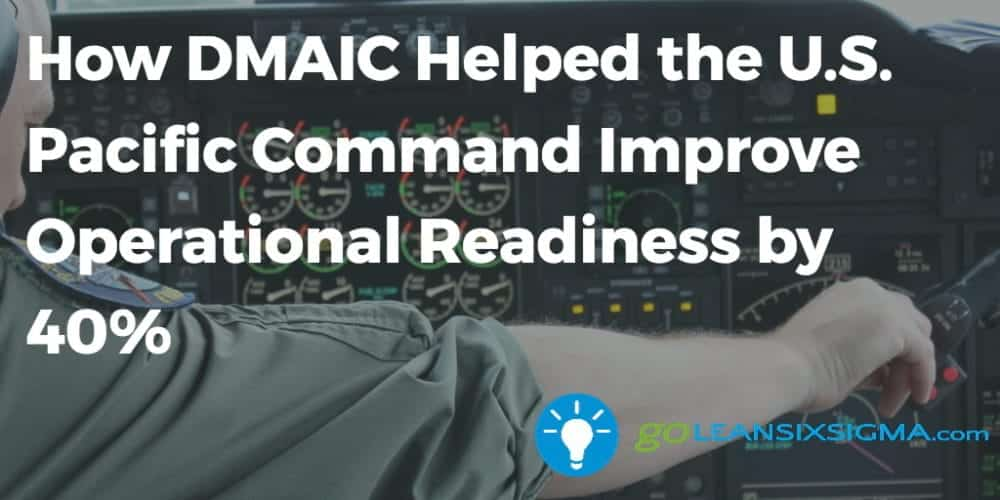How DMAIC Helped The U.S. Pacific Command Improve Operational Readiness By 40% - GoLeanSixSigma.com
