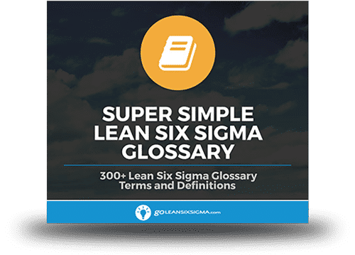 Super Simple Lean Six Sigma Glossary - GoLeanSixSigma.com