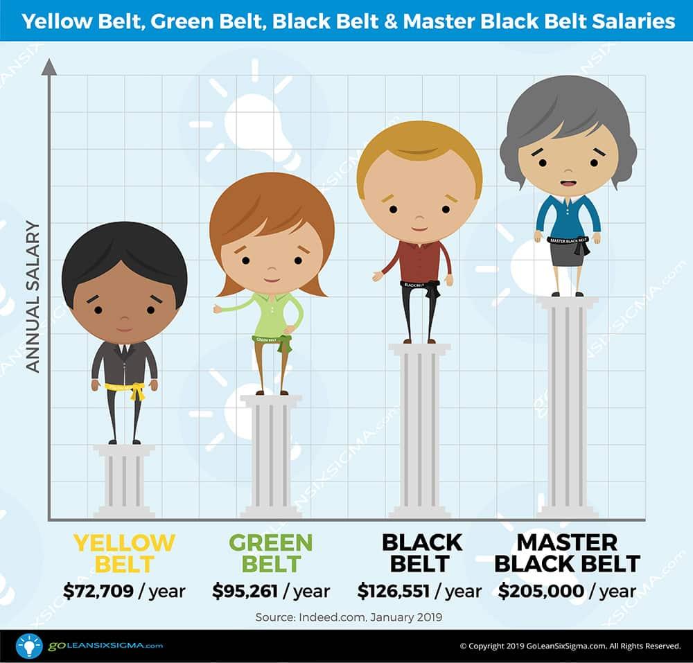 Yellow Belt, Green Belt, Black Belt and Master Black Belt Salaries - GoLeanSixSigma.com