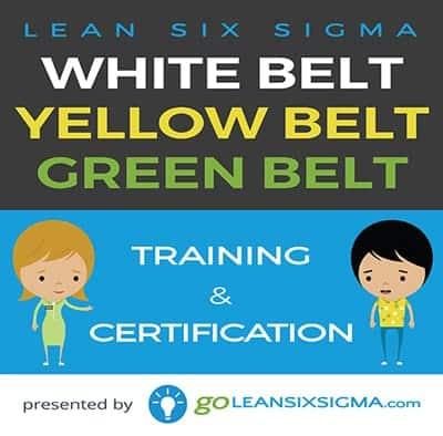 Bundle: White Belt + Yellow Belt + Green Belt - GoLeanSixSigma.com