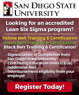 Lean Six Sigma Courses - San Diego State University - GoLeanSixSigma.com