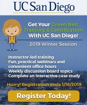 UC San Diego 2019 Winter Session - GoLeanSixSigma.com