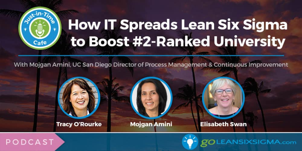 Podcast: Just-In-Time Cafe, Episode 49 - How IT Spreads Lean Six Sigma To Boost #2-Ranked University, Featuring Mojgan Amini