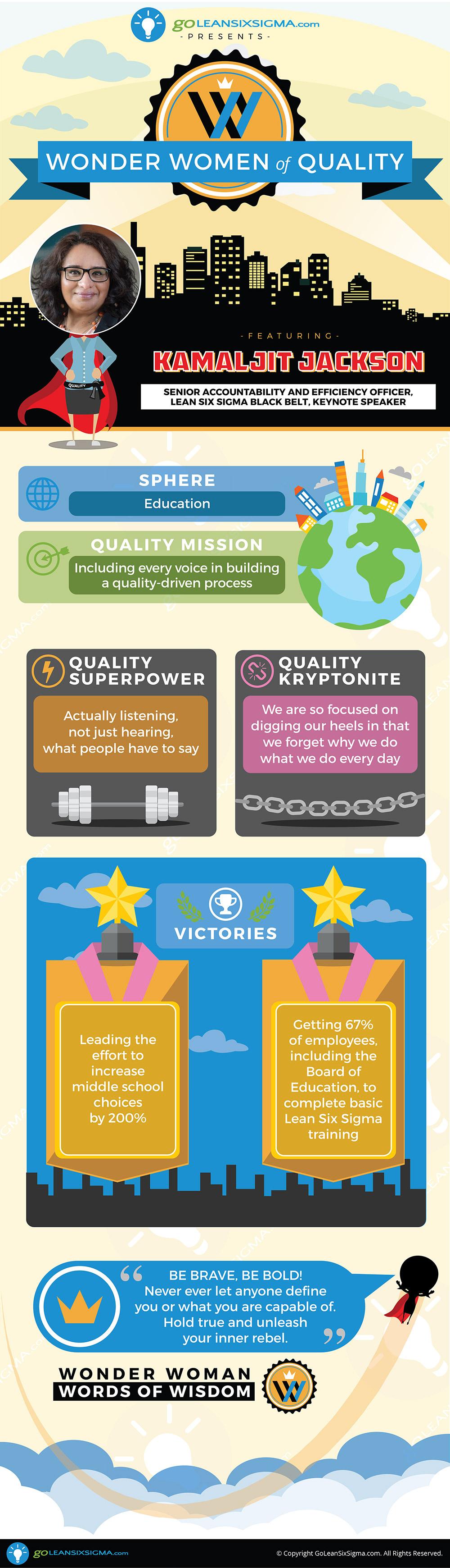 Wonder Women of Quality: Kamaljit Jackson - GoLeanSixSigma.com