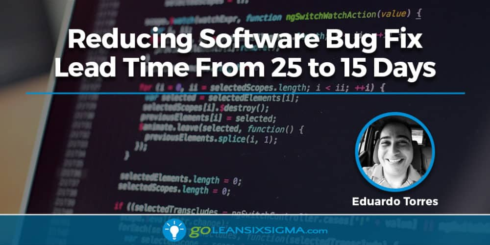 Project Storyboard: Reducing Software Bug Fix Lead Time From 25 To 15 Days - GoLeanSixSigma.com