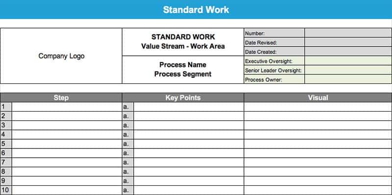 Standard Work - GoLeanSixSigma.com