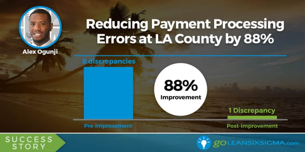 Success Story: Reducing Payment Processing Errors at LA County by 88%, Featuring Alex Ogunji - GoLeanSixSigma.com