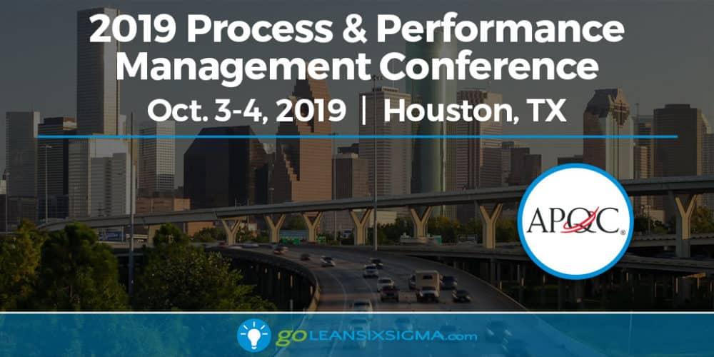 Event: Process & Performance Management Conference - GoLeanSixSigma.com