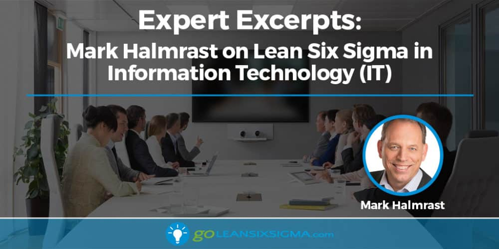 Expert Excerpts: Mark Halmrast on Lean Six Sigma in Information Technology (IT) - GoLeanSixSigma.com