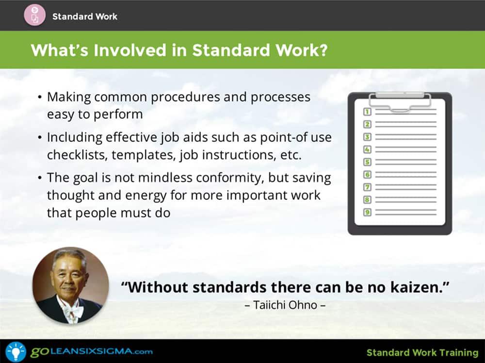 Standard Work Training & Certificate - GoLeanSixSigma.com