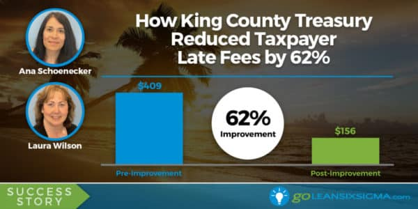 Success Story: How King County Treasury Reduced Taxpayer Late Fees By 62%, Featuring Ana Schoenecker & Laura Wilson - GoLeanSixSigma.com