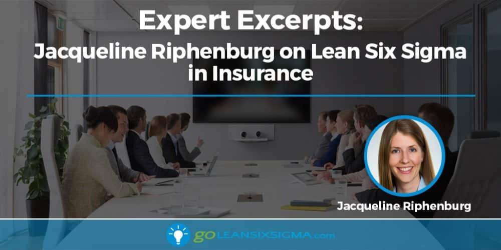 Expert Excerpts: Jacqueline Riphenburg on Lean Six Sigma in Insurance - GoLeanSixSigma.com