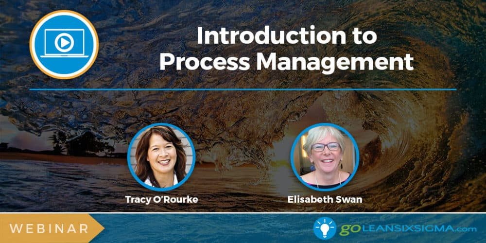 Webinar: Introduction To Process Management - GoLeanSixSigma.com