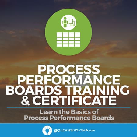Process Performance Boards Training & Certificate - GoLeanSixSigma.com
