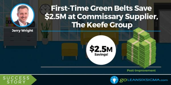 Lean Six Sigma Success Story: First-Time Green Belts Save $2.5M At Commissary Supplier, The Keefe Group - GoLeanSixSigma.com