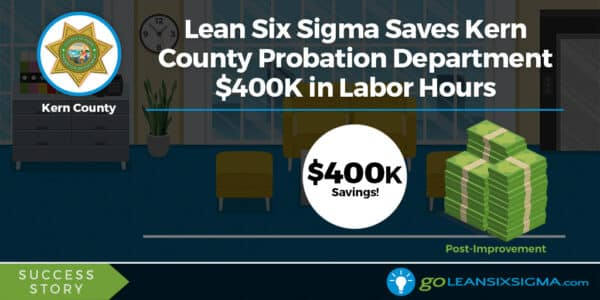 Lean Six Sigma Success Story: Lean Six Sigma Saves Kern County Probation Department $400K In Labor Hours - GoLeanSixSigma.com