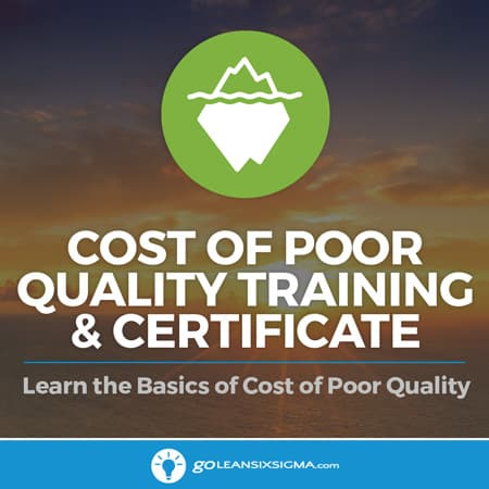 Cost Of Poor Quality Training & Certificate