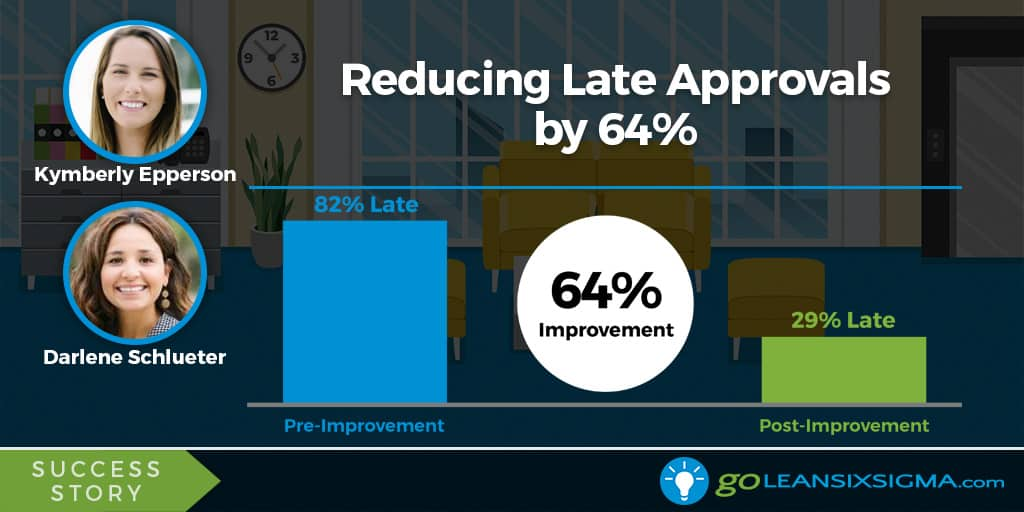 Lean Six Sigma Success Story: Reducing Late Approvals By 64%, Featuring Kymberly Epperson & Darlene Schlueter - GoLeanSixSigma.com