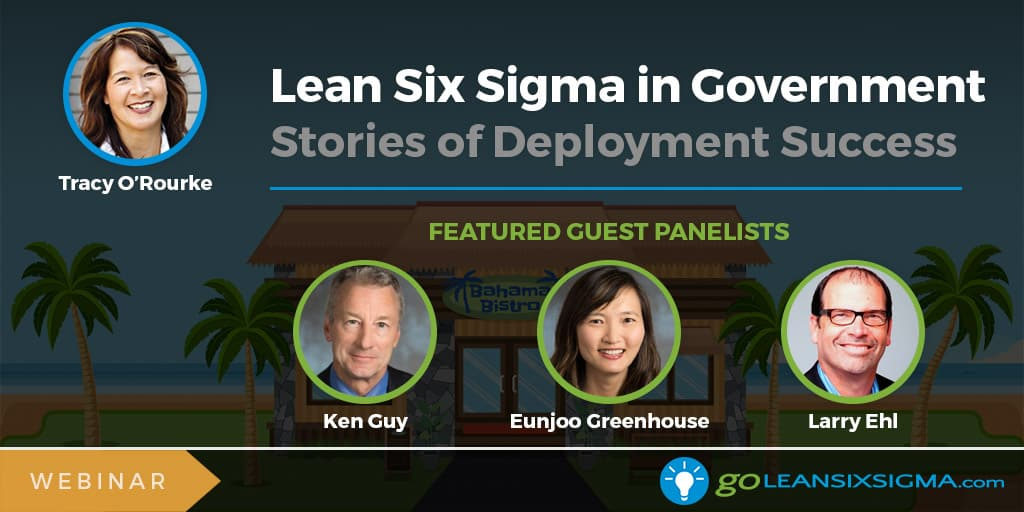 Webinar: Lean Six Sigma In Government: Stories Of Deployment Success - GoLeanSixSigma.com